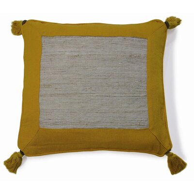 Nature Aroma Cotton Throw Pillow Color: Yellow