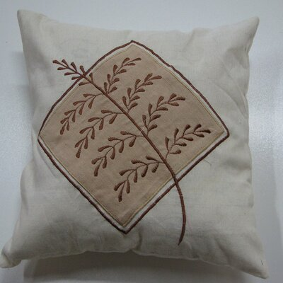 Embroidery Grain Cotton Throw Pillow Color: Brown