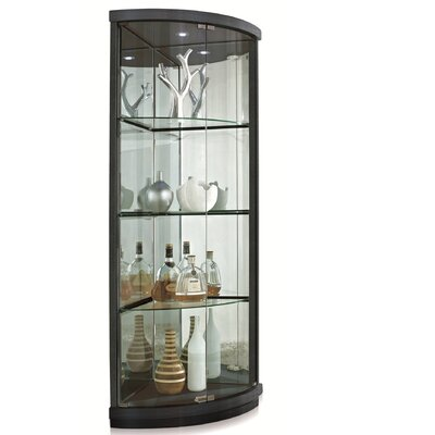 Lighted Corner Curio Cabinet