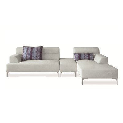 Manhattan Breezy Right Sectional with Ottoman