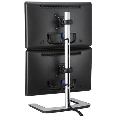 Visidec Freestanding Vertical 2 Screen Desk Mount