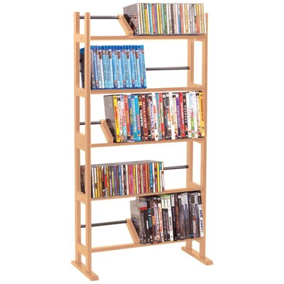 Multimedia Wood Storage Rack Finish: Brown