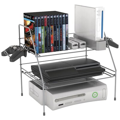Game Depot Wire Multimedia Storage Rack