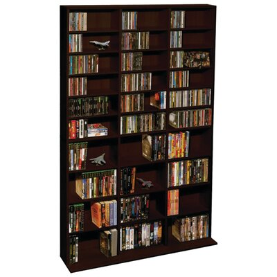 Traditional Multimedia Storage Rack Finish: Brown