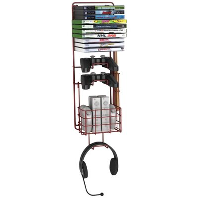 Game Multimedia Wall Mounted Storage Rack