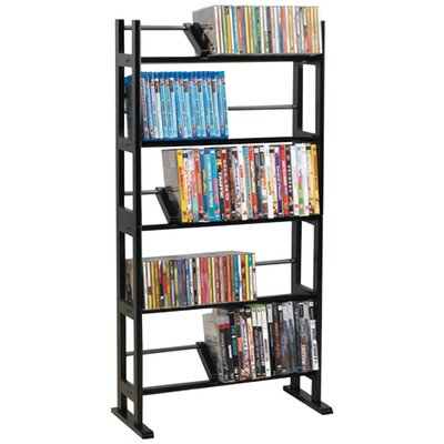 Multimedia Wood Storage Rack Finish: Black