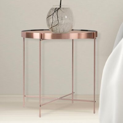 Farina Round End Table Color: Rose Gold