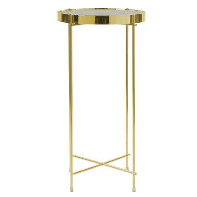 Farina End Table Color: Gold/Clear