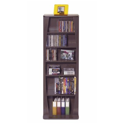 Canoe Multimedia Wood Storage Rack Color: Espresso