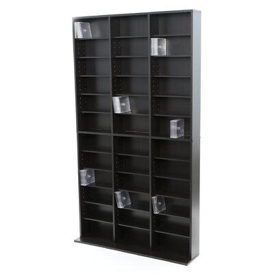 Multimedia Storage Rack Color: Brown