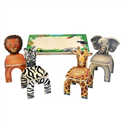 Safari Table & Animal Kid's Novelty Chairs