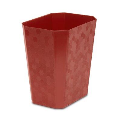 Hefty 4.5-Gal. Decorative Texture Wastebasket - Color: Red (Set of 6)