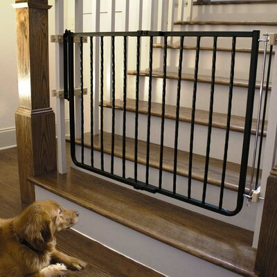 Hardware Mounted Pet Gate Finish: Black