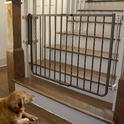 Hardware Mounted Pet Gate Finish: Bronze