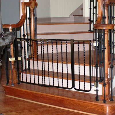 Hardware Mounted Pet Gate Extension Finish: Black