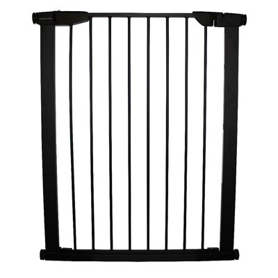 Extra Tall Premium Pressure Pet Gate Finish: Black