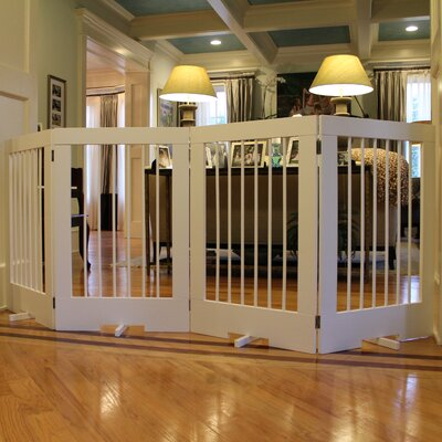 4 Panel Tall Pet Gate Finish: White