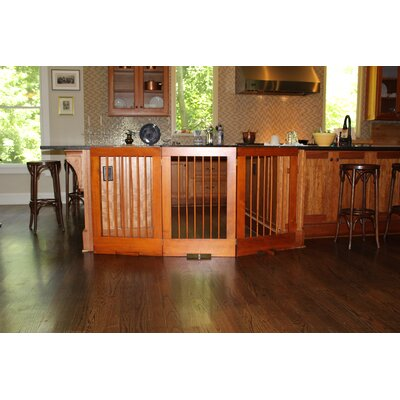 4 Panel Tall Pet Gate Finish: Oak