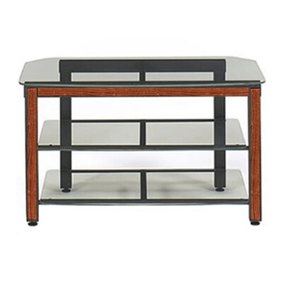 Cheap Wood Technology MG Black 44″ TV Stand with Cherry Trim Kit (WT0300)