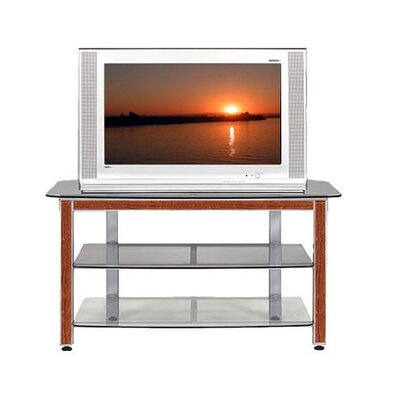 Cheap Wood Technology MG Silver 44″ TV Stand with Cherry Trim Kit (WT0303)