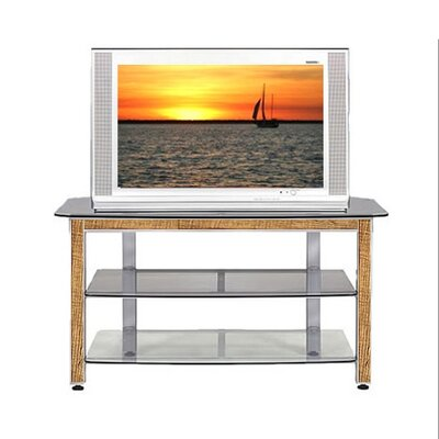 Cheap Wood Technology MG Silver 44″ TV Stand with Oak Trim Kit (WT0304)