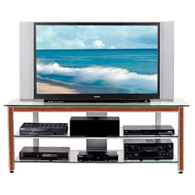 Cheap Wood Technology MG Silver 63″ TV Stand with Cherry Trim Kit (WT0310)