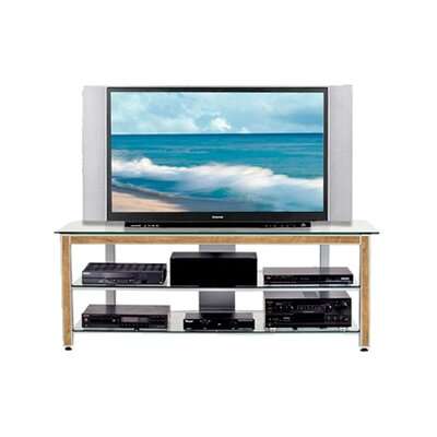 Cheap Wood Technology MG Silver 63″ TV Stand with Oak Trim Kit (WT0312)