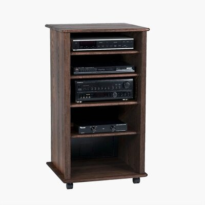 LCD AUDIO COMPONENT RACK CABINET WOOD | Wooden Cabinets Design Ideas