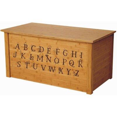 Bamboo Toy Box With Full Alphabet Cedar Base: No