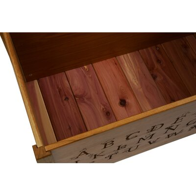 Espresso Toy Box With Thematic Font Cedar Base: Yes