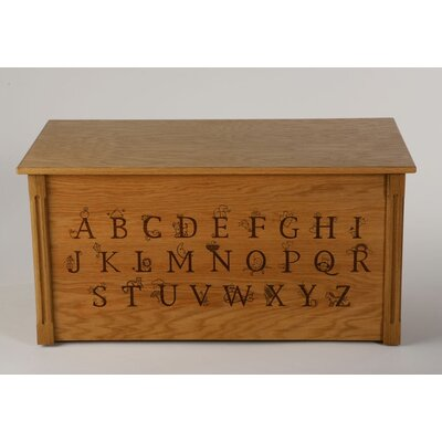 Wooden Alphabet Toy Box Finish: Oak, Optional Cedar Base: No