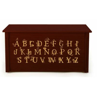 Wooden Alphabet Toy Box Finish: Cherry, Optional Cedar Base: Yes