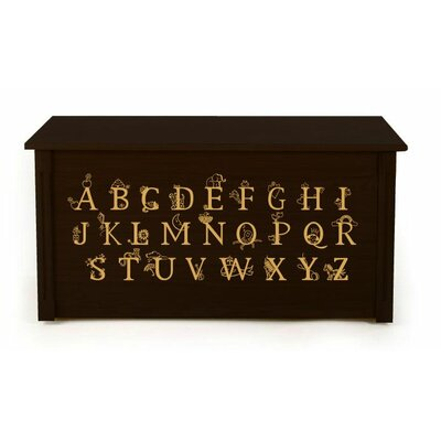 Dream Toy Box Wooden Alphabet Toy Box - Finish: Espresso, Optional Cedar Base: No at Sears.com