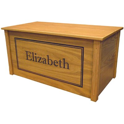 Oak Toy Box With Shadow Bold Font Cedar Base: No