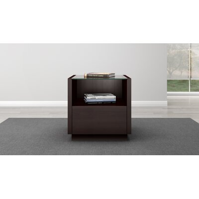 Contemporary End Table Color: Wenge