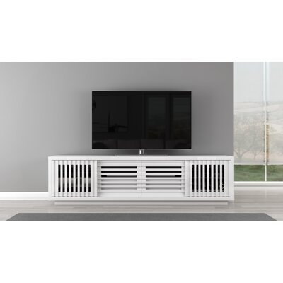 Signature Home TV Stand Color: White
