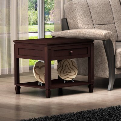 Cheap Furnitech Traditional End Table in Wenge (FNT1048)