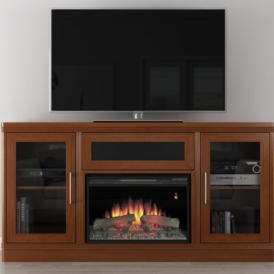 Transitional 70 TV Stand with Fireplace
