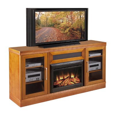 Cheap Furnitech Transitional TV Console with Electric Fireplace (FNT1135)