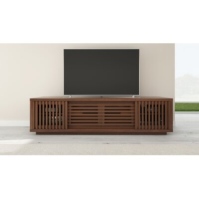 Signature Home 82 Walnut TV Stand