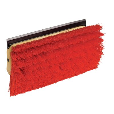 Bi-Level Floor Scrub Brush with Squeegee (Set of 6)