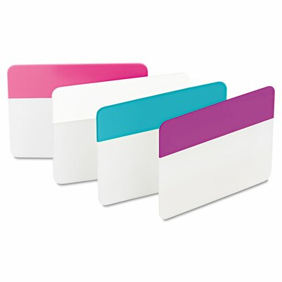 Durable Hanging File Tabs (Pack of 24) (Set of 2) Color: Assorted Pastel