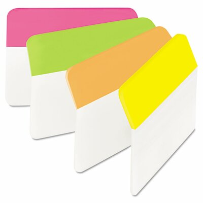 Angled Hanging File Tab (Pack of 24) (Set of 2) Color: Assorted Bright