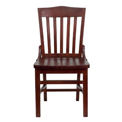 Schoolhouse Side Chair (Set of 2) Finish: Mahogany