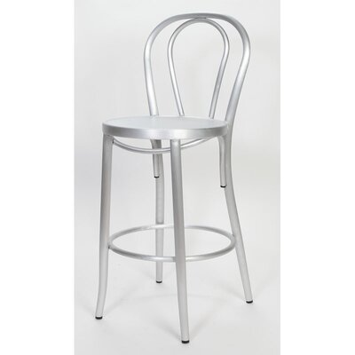 Milan 30 inch Bar Stool Finish: Brushed