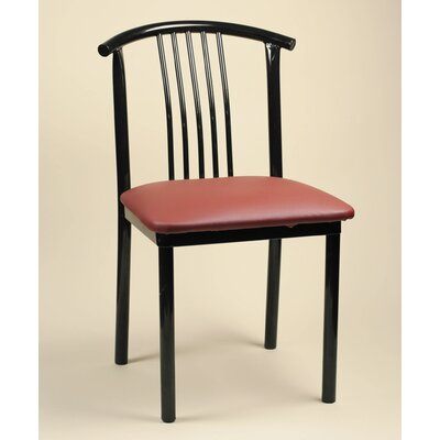 Gabby Side Chair (Set of 2) Upholstery: New Soho: Claret