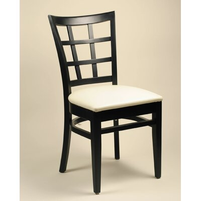 Alston Lattice Back Side Chair - Finish: Natural, Upholstery: Adobe White (Set of 2) at Sears.com