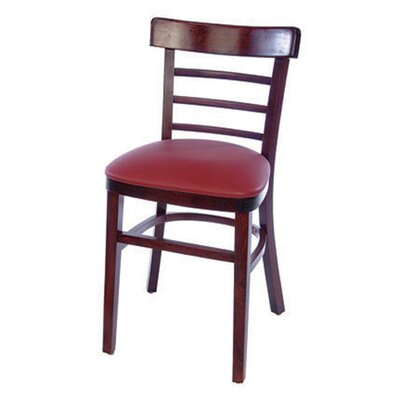 Ladderback Side Chair (Set of 2) Finish: Mahogany