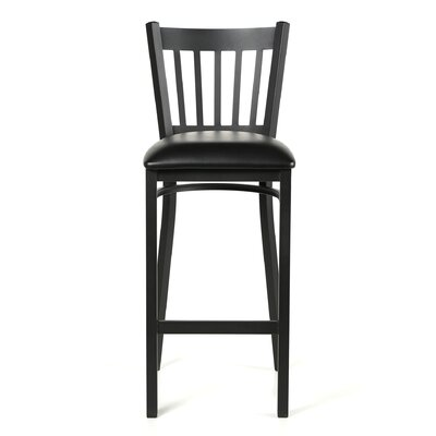 Legacy 28.5 Bar Stool Upholstery: Black