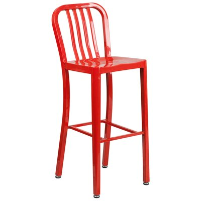 30.25 Bar Stool Finish: Red